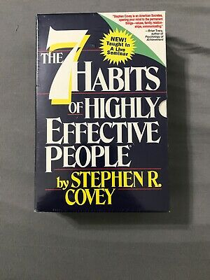 The Seven Habits of Highly Effective People Stephen R Covey Audio Cassette Tapes