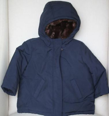 Bonpoint Kids Navy Blue Frost Parka Coat 2 Years