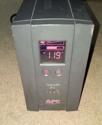 APC Back-UPS RS 1300 Uninterruptible Power Supply BR1300LCD Tested