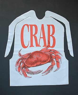 25 Pack Of Disposable Plastic Crab Bibs Free Shipping