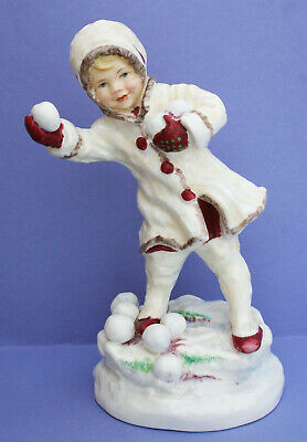 "Royal Worcester Months Of The Year Figurine ""December"" F.doughty Rw3458 {C}1966"