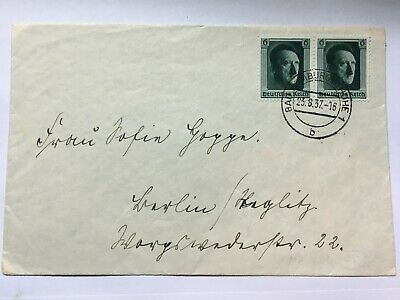 GERMANY 1937 cover tied with Hitler`s Culture Fund Stamps