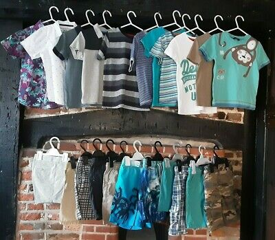 Boys Clothes Bundle Age 3-4 Years. Summer items Shorts & T-shirts, Nutmeg & more
