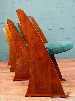 Set of 4 Oak E Gomme Dining Chairs, Heals, 1920s (100817)