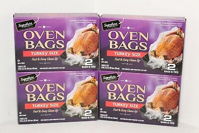 8 Kitchen Oven Roast Bags & Ties Turkey Size Meat & Poultry 8 to 24 lbs BPA free