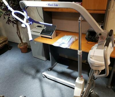 Arjo Huntleigh Maxi-Lite Motorized Patient Lift w/ Remote Charger & New Sling