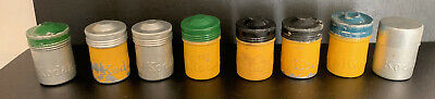 LOT of 8 Vintage  Metal 35mm Film Cans, Canisters, Kodak Embossed Logo