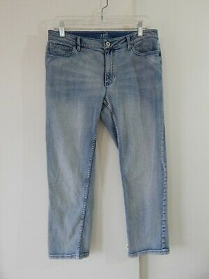 womens blue J JILL jeans authentic fit crop cropped ankle slim stretch small 6