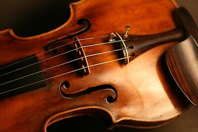 Fine Old Antique French Master Violin Made By Claude Francois Vuillaume Ca 1780