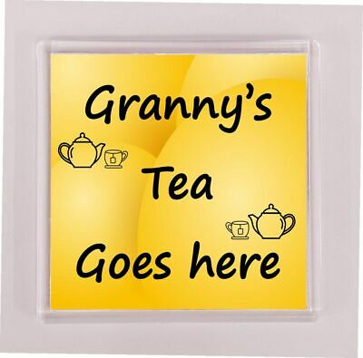 Granny Drink Coaster Gift Granny/'s Drink Goes Here Ideal Novelty Present