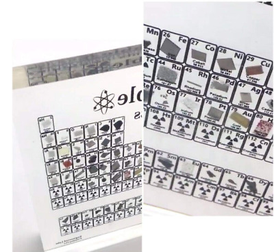 Limited Edition Periodic Table W/ Real Elements
