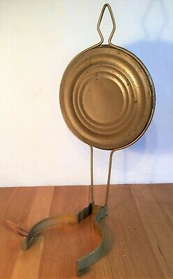Antique / Vintage Brass Oil Lamp Reflector, Wall Hook for Mounting / Hanging