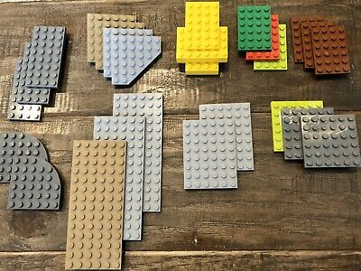 2 ~ 4x12 Brown Base Plate Bricks  ~ Lego  ~ NEW