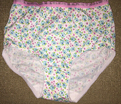 TOTAL GIRL size 10 Old School Floral Print Teen Youth Panties Full Briefs