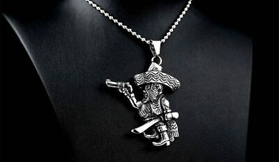 Bandidos Mc Motorcycle Chain One Percenter 1%   Necklace Free Shipping