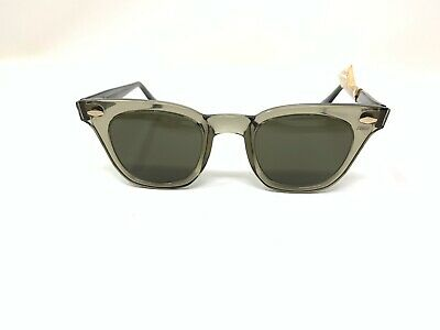 Vintage Safety Glasses MSA SUNGLASSES  STYLE WITH SAFETY GREEN LENSES 46mm