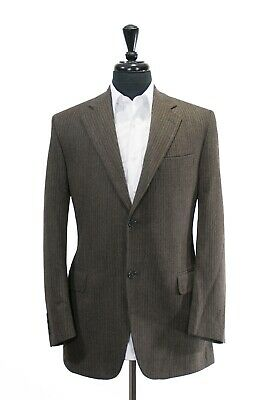 Jack Victor Prossimo Grey Striped Grovewood Cotton Blend Blazer 40R 4841