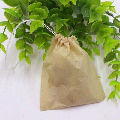 Disposable Empty Teabags String Heat Seal Filter Paper Loose Tea Spice Bags 100X