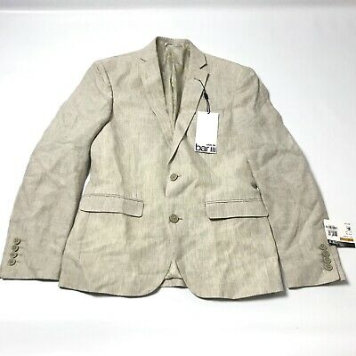 $275 Bar III Men's Blazer Jacket Size 36S Linen Formal Career Office Beige New