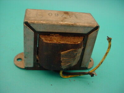 ROLA FILTER CHOKE  . 14 Henry , 60 mA , 550 Ohm .  USED , DATED 2-5-58 . TESTED