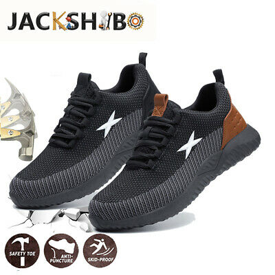 Mens Industrial Safety Working Shoes Protective Trekking Hiking Trainer Sneakers