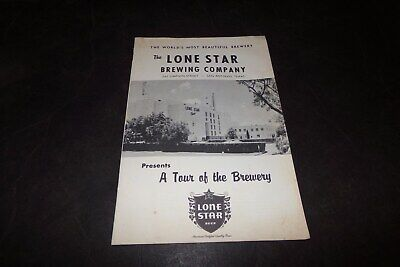 Vintage Lone Star Brewing Company Tour Guide History Pamplet San Antonio Texas
