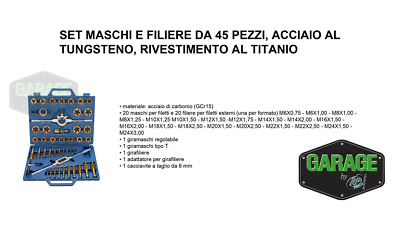 Set Maschi Filiere 45 Pz.