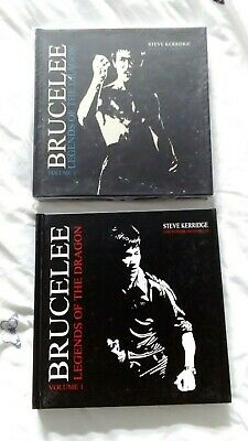 Bruce Lee Legends Of The Dragon Volumes 1/2/ Rare Hardback Over 600 Pages