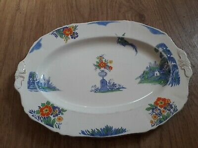 Vintage Alfred Meakin Art Deco Small Platter, Harmony Shape, 1930'S.