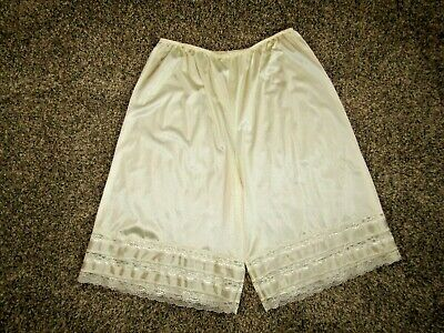 Vintage Velrose 100% Nylon Sheer Bloomers Panties Pettipants Lace Trim 3Xl