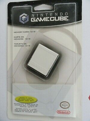 New Official Nintendo Gamecube Memory Card 1019 Gc Genuine Factory Sealed