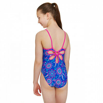 Zoggs Girls Mermaid Flower Sun Protection One Piece Swimsuit for 6-15 Years Kids