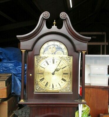 Smallcombe Of Essex Three Weight Driven Longcase Wooden Grandfather Clock