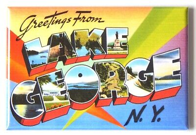 "Greetings from Saratoga Springs New York FRIDGE MAGNET travel souvenir /""style A/"""