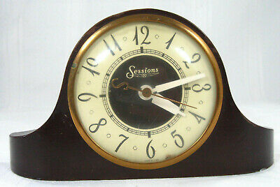 Vintage 1930s Sessions Art Deco Electric Mantle Clock Model 3W Works Electric