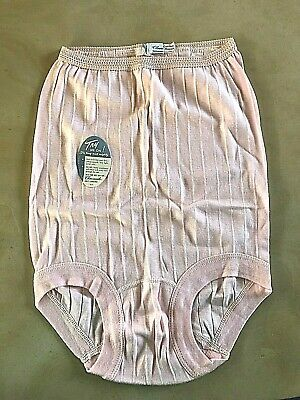 NOS Vtg Charmode Sears Cotton/Rayon Knit Pink Banded Leg Pantie L Tiny Mighty