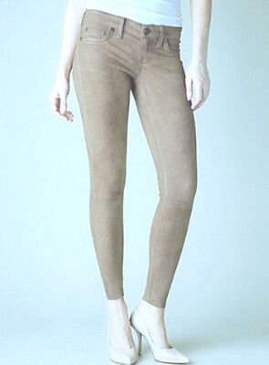 NWT $750 True Religion Casey Skinny Suede Lamb Leather Best Jeans Pants 29 NEW