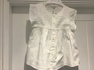 Girls Tunic Top, size 2-3, Ivory, Marks & Spencer, Bnwt