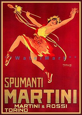 Vermouth Bianco 1925 Vintage Poster Print Retro Style Baby Angels Modena Italy