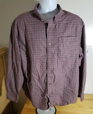Red Head Brand Co. Wrinkle-Free Multicolored Plaid 2XL Long Sleeve