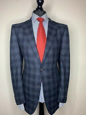 Gieves And Hawkes Savile Row London Luxury Sports Jacket/Blazer Checked 44R