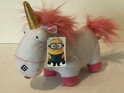 "Despicable Me Fluffy 12"" Unicorn Plush Stuffed Animal Minion Made Toy Factory"