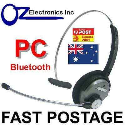 Bluetooth Headset handsfree for use with Skype MS Teams WebEx Zoom Australia PC