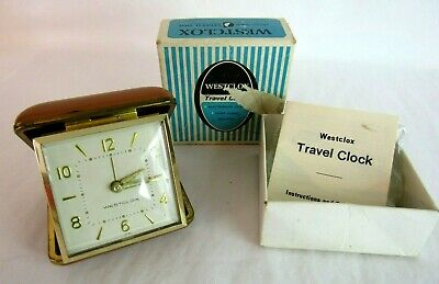 Vintage Clock--Westclox--Travel Alarm Clock--Works Great--Very Nice- With Box