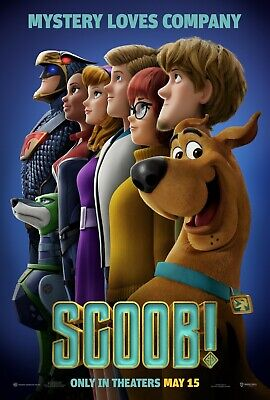 Scoob! Movie Poster (24x36) - Efron, Wahlberg, Seyfried, Shaggy, Scooby-Doo v2