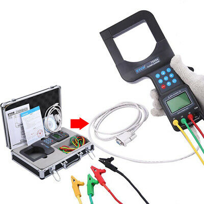 Large Caliber Leakage Clamp Meter Three Phase Digital Voltmeter 2000A 600V