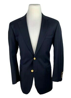 Brooks Brothers Country Club Mens 44R Loro Piana Wool Sport Coat Blazer Navy USA