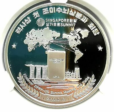 "L3628, Korea Proof Silver Coin, ""Korea-USA Singapore Summit"" 2019 Grade"