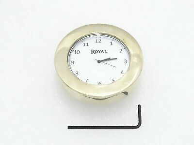 White Dial Brass Stem Nut Clock Watch Suitable For Royal Enfield #Re163
