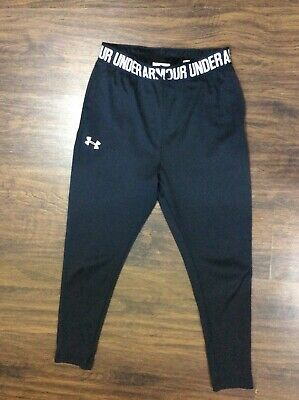UNDER ARMOUR Black casual fit sports pants Sz 9 Girls